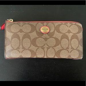 Coach PVC wallet brown/pink